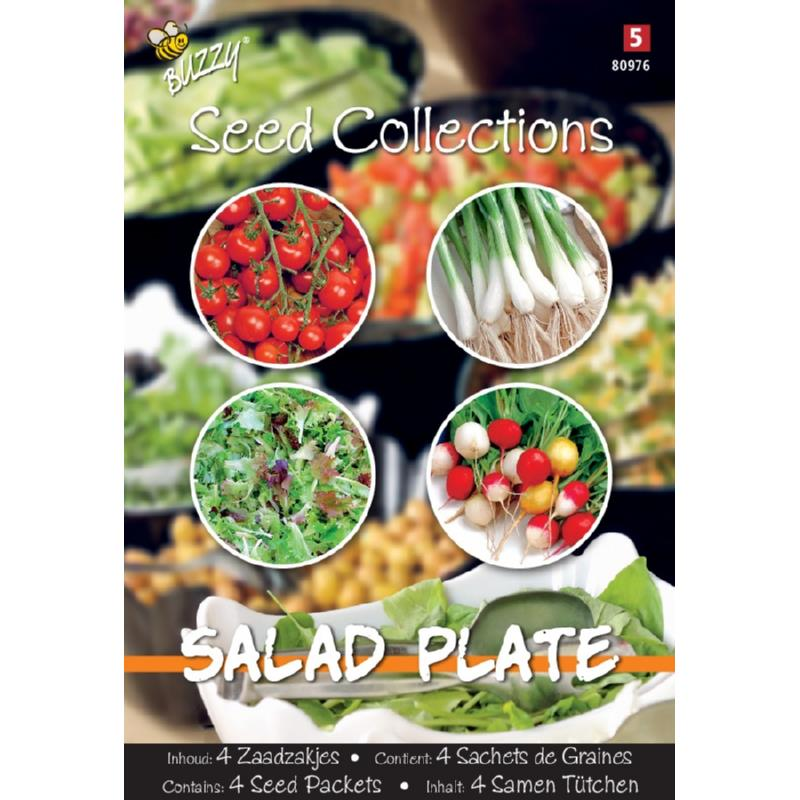 Tuinplus Buzzy Seeds Collection Salad Plate 4in1