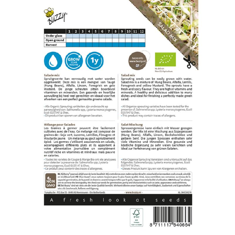 Tuinplus Buzzy Bio Sprouting Salad Mixed Bio